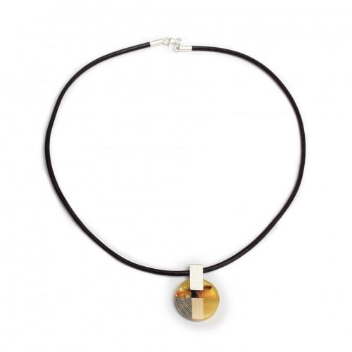 歐洲Amberwood圓系列 混色琥珀純銀項鏈