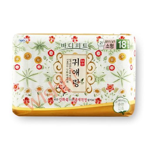 Gweiaerang 貴愛娘【韓方中草藥系列】 防菌除臭日用衛生巾 21cm  (18片)