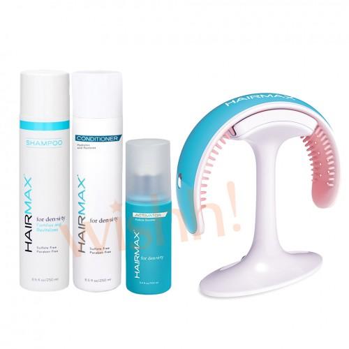 美國 HairMax 激光生髮器優惠套裝 1 激光生髮器頭帶41 x1 + 毛囊激活劑 250ml x1 + 頭皮護理洗髮水 250ml x1 + 頭皮護理護髮素 250ml x1