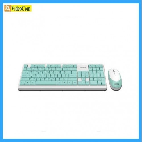 PHILIPS SPT6314 (C314) Wireless Keyboard and Mouse Combo Set *附加中文部首輸入碼 (綠色+白色)