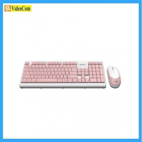 PHILIPS SPT6314 (C314) Wireless Keyboard and Mouse Combo Set *附加中文部首輸入碼 (粉紅+白色)